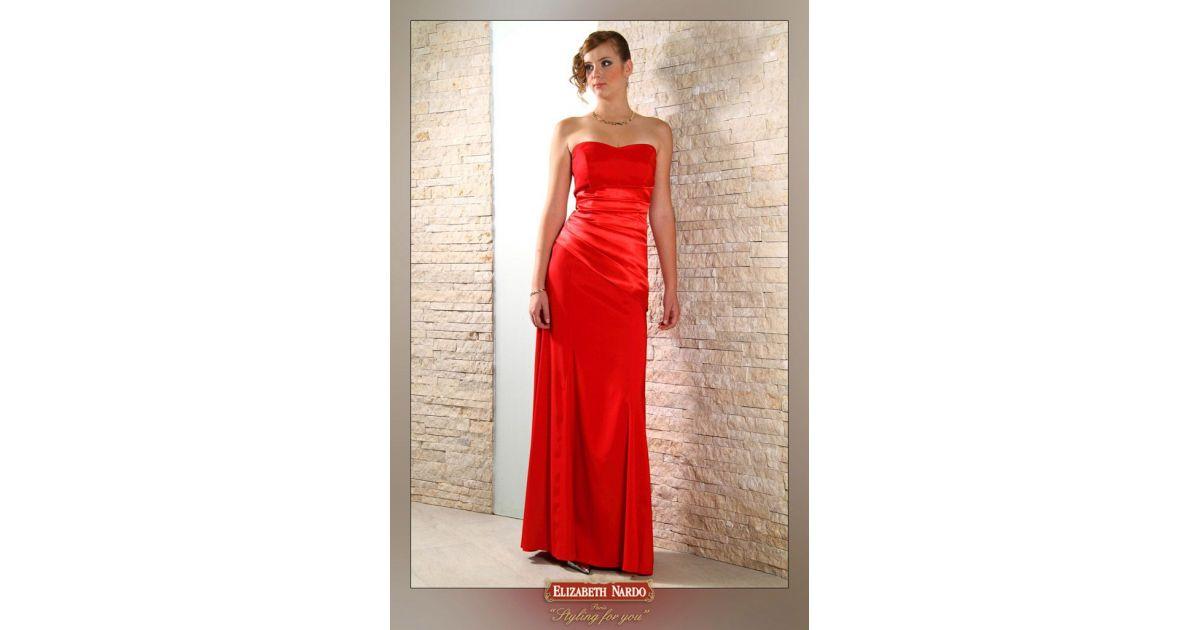 12-162 mell alatt rakott piros alkalmi ruha - ELIZABETH NARDO FASHION HOUSE 10ba1513c7