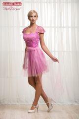 b29e53107a 17-216 Koktélruha, Pink, ejtett csipkevállas, szűk miniruha, felköthető  tüllszoknyával