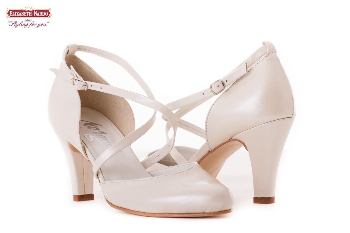17-903 Morandi bőrcipő krém színben 35-42 méretig